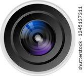 camera lens vector | Shutterstock .eps vector #1245137311