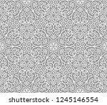 vintage abstract floral... | Shutterstock .eps vector #1245146554