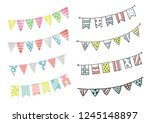 bunting and garland   Shutterstock .eps vector #1245148897