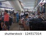 hanoi   august 9  people shop... | Shutterstock . vector #124517314