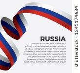 russia flag  vector... | Shutterstock .eps vector #1245174634