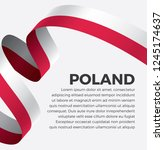 poland flag  vector... | Shutterstock .eps vector #1245174637