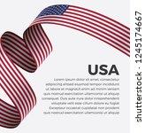 usa flag  vector illustration... | Shutterstock .eps vector #1245174667