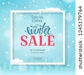 vector winter sale banner with... | Shutterstock .eps vector #1245179764