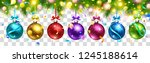christmas colored balls ... | Shutterstock .eps vector #1245188614
