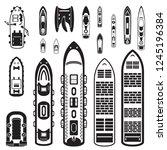 ships top view set. vector | Shutterstock .eps vector #1245196384