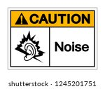 caution noise symbol sign ... | Shutterstock .eps vector #1245201751