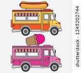 vector food truck ice cream and ... | Shutterstock .eps vector #1245202744