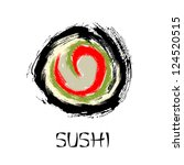 sushi roll abstract | Shutterstock .eps vector #124520515