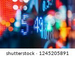 financial stock exchange market ...   Shutterstock . vector #1245205891