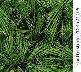 seamless palm trees leaves... | Shutterstock .eps vector #124521109