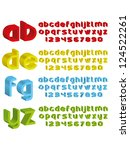 3d alphabet in different colours | Shutterstock . vector #124522261