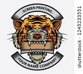 tiger design logo screen... | Shutterstock .eps vector #1245233551