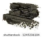 black hand drawn brush stroke.... | Shutterstock . vector #1245236104