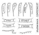 vector illustration of start... | Shutterstock .eps vector #1245236137