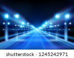 illuminated street. city at... | Shutterstock .eps vector #1245242971