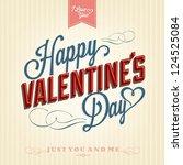 happy valentine's day hand...   Shutterstock .eps vector #124525084