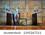 shaker  flask and test tubes... | Shutterstock . vector #1245267211
