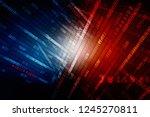 2d illustration cyber attack a06   Shutterstock . vector #1245270811