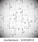 background of white puzzle. eps ... | Shutterstock .eps vector #124528915
