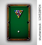 Isolated Billiard Table  Top...