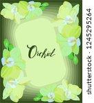 flower arrangement with yellow... | Shutterstock .eps vector #1245295264