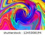 bright swirled gradient... | Shutterstock . vector #1245308194