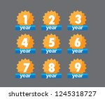 one year warranty. durable icon ... | Shutterstock .eps vector #1245318727