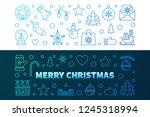 merry christmas 2 outline...   Shutterstock .eps vector #1245318994