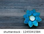 Blue Tealight Holder In The...