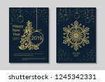 new year greeting card design... | Shutterstock .eps vector #1245342331