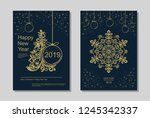 new year greeting card design... | Shutterstock .eps vector #1245342337