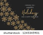 happy holidays and happy new...   Shutterstock .eps vector #1245345901