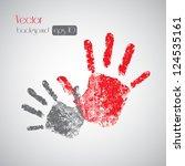 hand prints on background  ... | Shutterstock .eps vector #124535161