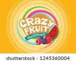 crazy fruit multifruit   Shutterstock .eps vector #1245360004