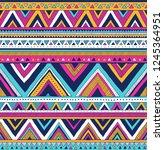 multicolor tribal vector... | Shutterstock .eps vector #1245364951