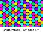 honeycomb many color ... | Shutterstock . vector #1245385474