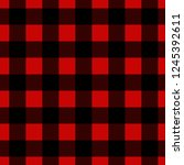 seamless vector plaid ... | Shutterstock .eps vector #1245392611