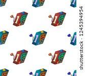isometric cube robot pattern....