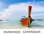 beautiful boats at the lipe...   Shutterstock . vector #1245402634