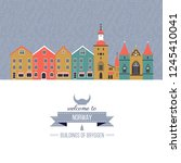 norwegian travel cartoon vector ... | Shutterstock .eps vector #1245410041