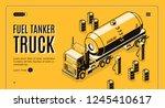 fuel transportation isometric... | Shutterstock .eps vector #1245410617