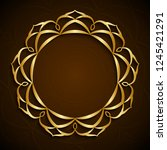 3d round islamic frame  floral... | Shutterstock . vector #1245421291