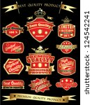 red golden vintage quality... | Shutterstock .eps vector #124542241