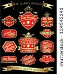 red golden vintage quality...   Shutterstock .eps vector #124542241