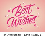 best wishes colorful glossy... | Shutterstock .eps vector #1245423871