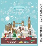 christmas wishes from england.... | Shutterstock .eps vector #1245426007