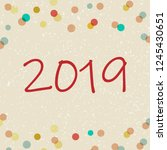 happy new year card. vector... | Shutterstock .eps vector #1245430651