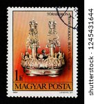 hungary   circa 1984  a postage ... | Shutterstock . vector #1245431644