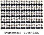 black and white fake diamond on ... | Shutterstock . vector #124543207